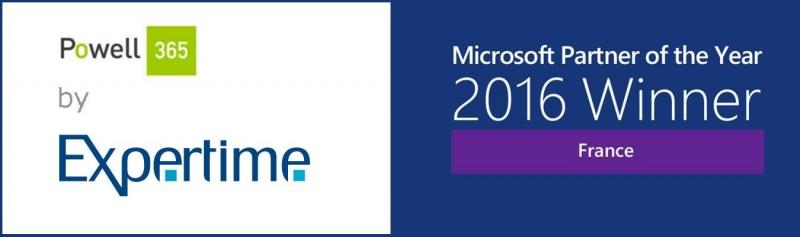 Powell 365 partenaire microsoft année 2016
