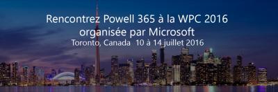 Powell 365 à Toronto pour la WPC 2016