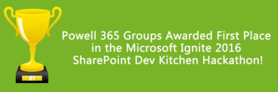1st place in SharePoint Dev Kitchen 2016