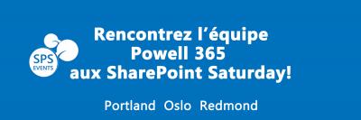 Powell 365 participe au SharePoint Saturday