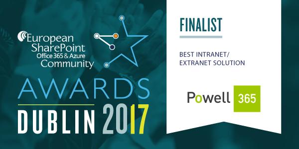 ESPC Awards finalist Powell 365