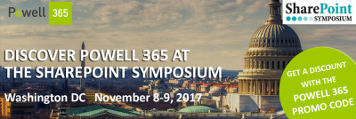 Discover Powell 365 at the SharePoint Symposium 2017