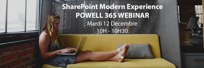 Webinar Modern Experience SharePoint