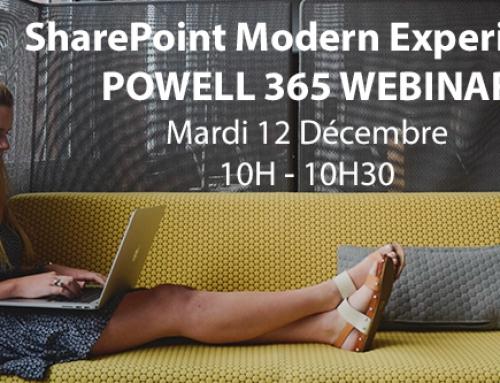 Webinar : La Moderne Expérience SharePoint avec Powell 365