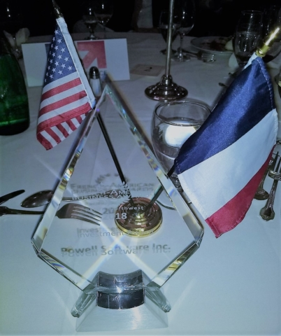 Investment Award Frenc American Chamber of Commerce