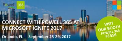 Powell 365 at Microsoft Ignite 2017