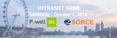 Powell Software co-sponsorise l'événement Intranet Now 2018 avec son partenaire Sorce