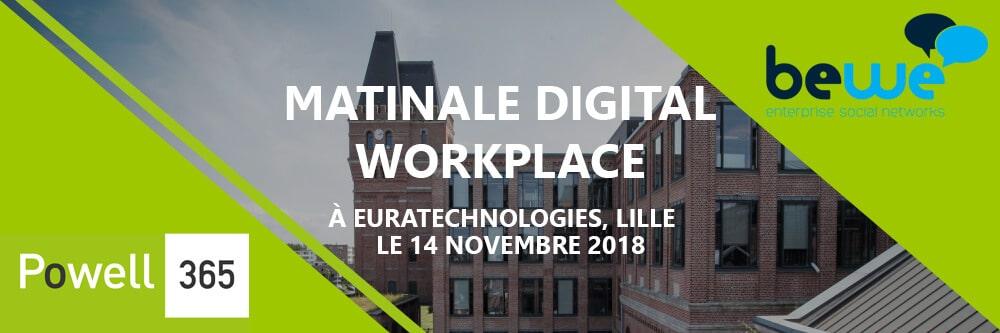 Powell Software et son partenaire BeWe organisent leur premier événement commun le mercredi 14 novembre à l'incubateur EuraTechnologies à Lille !