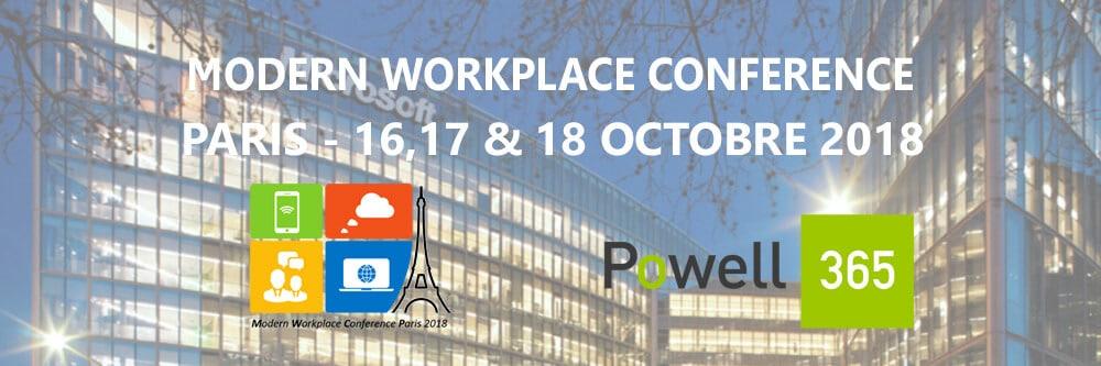 Powell Software vous donne rendez-vous du 16 au 18 octobre 2018 à la Modern Workplace Conference!