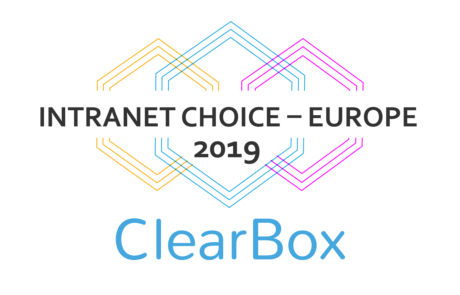 Digitaler Arbeitsplatz Clearbox Auszeichnung Intranet Choice Europe 2019