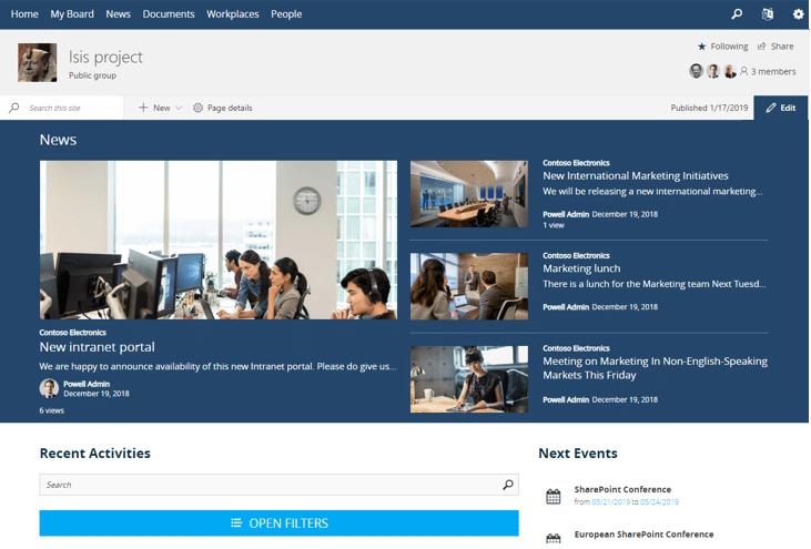 Microsoft Teams Template Powell 365