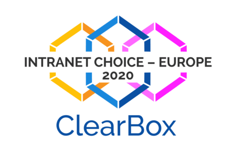 Digitaler Arbeitsplatz Clearbox Auszeichnung Intranet Choice Europe 2020