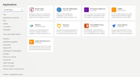 Microsoft Teams app store FR - Powell Teams