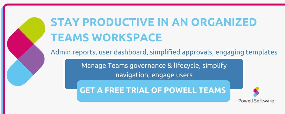 Microsoft Teams governance app