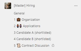 HR Recruiting Teams template