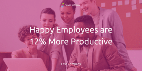 Happy employees are productive employees