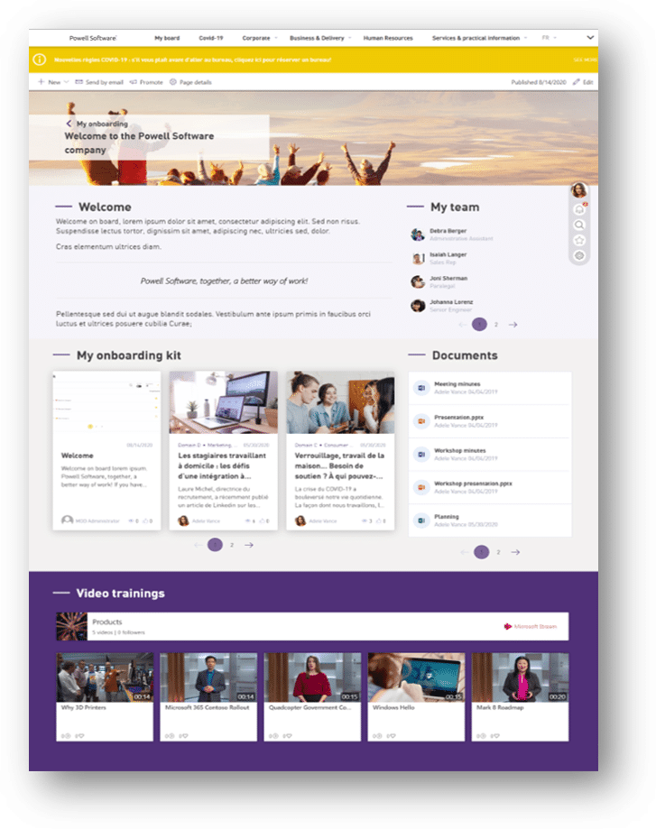 Remote Employee Onboarding Intranet