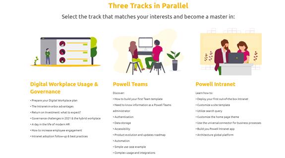Three Tracks Digital Workplace convention