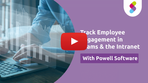 Track engagement in the intranet