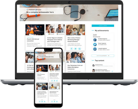 Employee Advocacy Mobile and Desktop