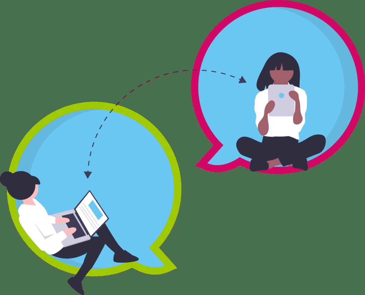 Teletrabajadores conectados