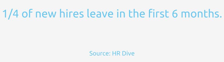 Ein Viertel der neuen Mitarbeiter verlässt die Firma in den ersten 6 Monaten