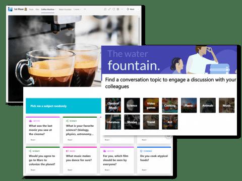 Virtual Coffee Machine and Water Fountain