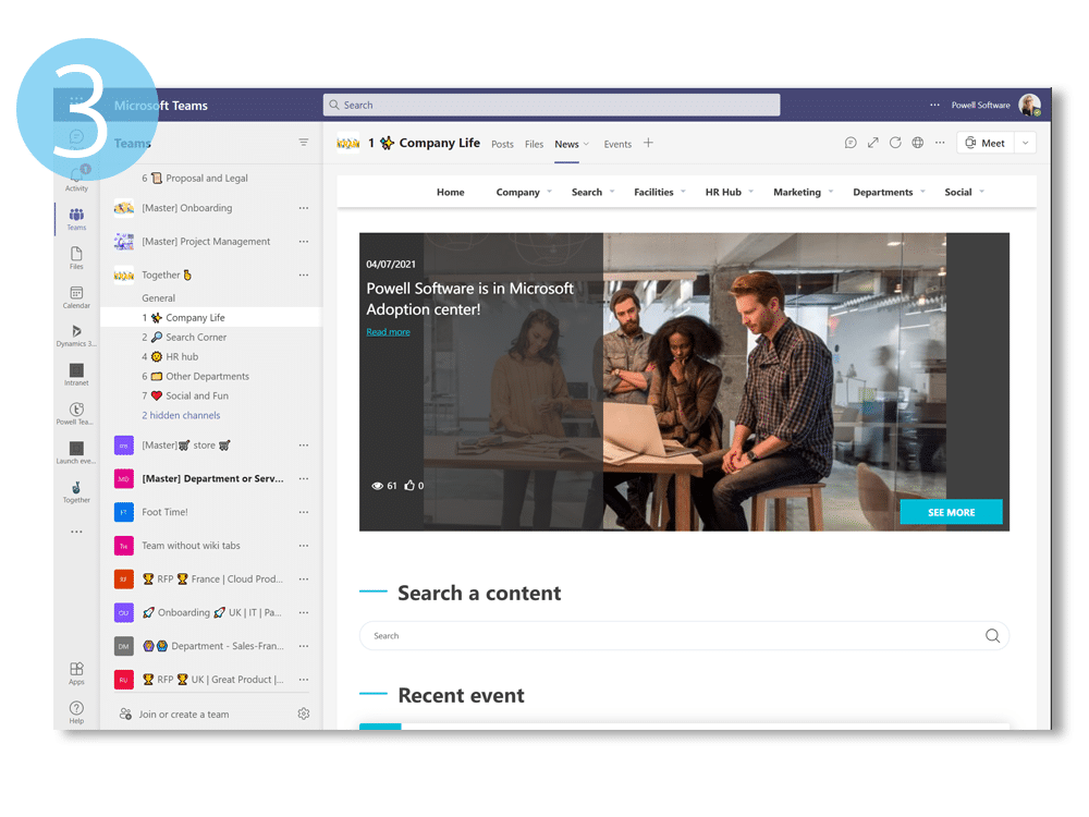 Together by Powell Teams Search Content