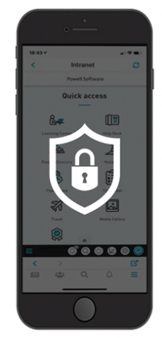 Secure & compliant digital workplace app and mobile intranet app